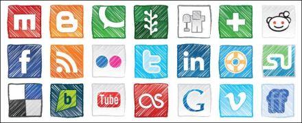 free-grungy-social-media-icons