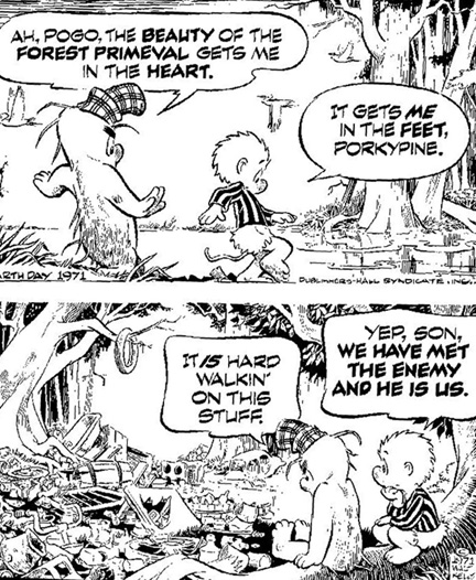 Walt Kelly's Pogo cartoon, from Earth Day 1971
