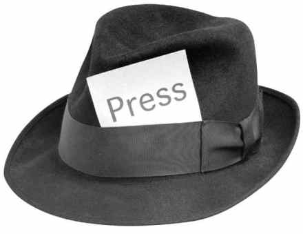 Journalist Hat with Press tag