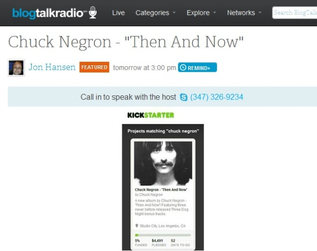 Click to hear interview with Chuck Negron . . .