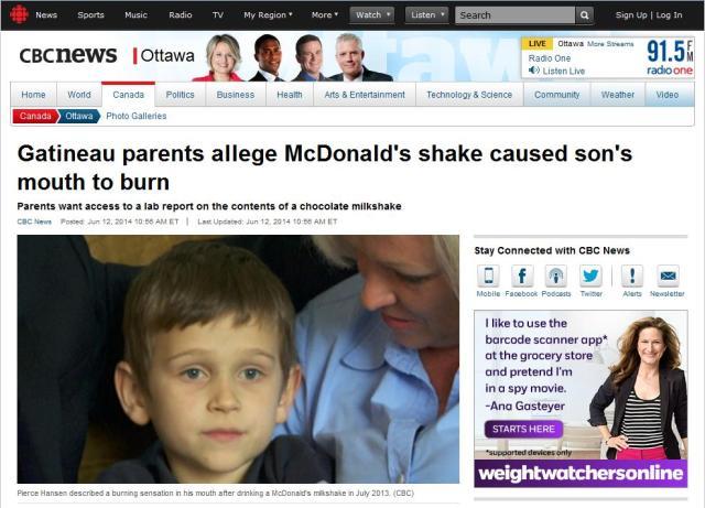 McDonald's CBC article